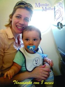 Cuidados com bebê durante a viagem de avião